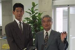 スポーツ整形外科の師匠 千葉大学整形外科学教授守屋秀繁先生と 内覧会にて