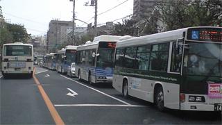 稲毛駅バス渋滞