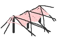 腰背筋膜はテントのタープのように腰の表層を覆っている